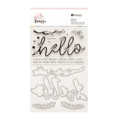 Rosie's Studio Arabesque Stamp/Die Set