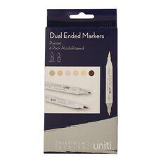 Uniti Dual Ended Markers Portrait 6 Pack