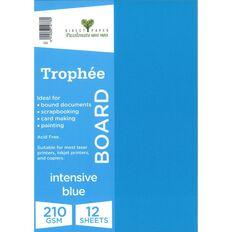 Trophee Board 210gsm 12 Pack Intensive Blue A4