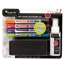 Quartet Whiteboard Accessory Kit Duster/Markers/Cleaner
