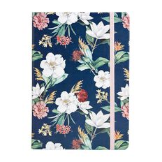 Uniti Kiwi Breeze Notebook PU Hardcover Flowers Green A5