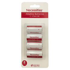 Necessities Brand C LR14 Alkaline 4 Pack