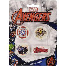 Avengers Disney Erasers 4 Pack