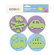 Kookie Jumbo Foam Stamps 4pk Transport