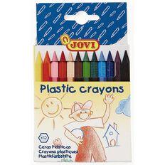 Jovi Plastic Crayons 12 Pack