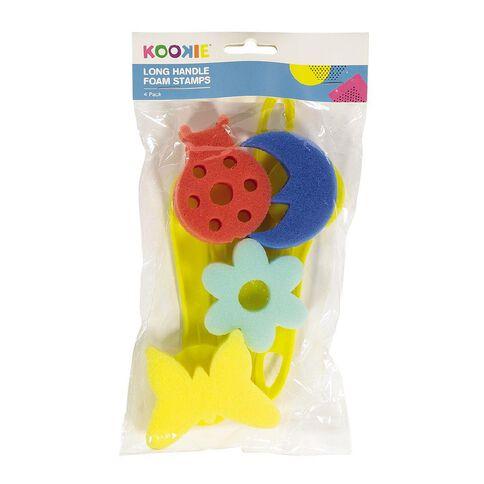 Kookie Long Handle Foam Stamps 4pk