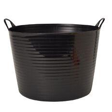 Living & Co Round Flexi Tub Black 42L