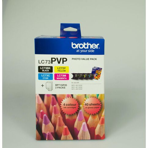 Brother Ink LC73 Photo Value 4 Pack (600 pages)