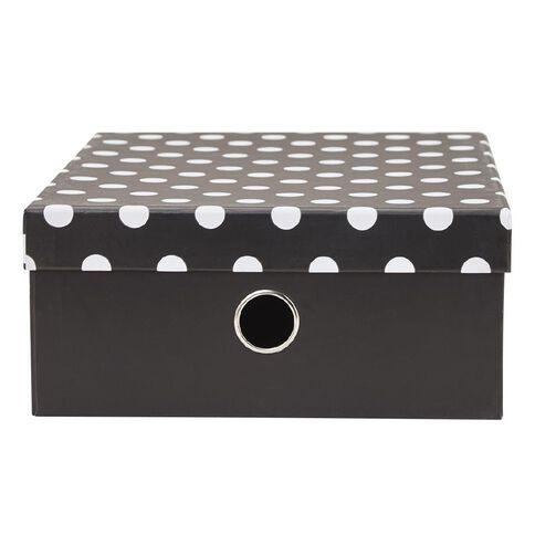 Uniti Black&Gold Storage Box Black/White with Dots