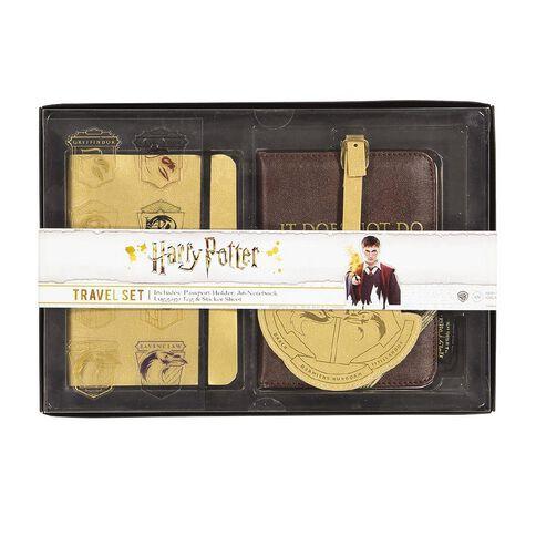 Harry Potter Travel Set Notebook Passport Holder Luggage Tag Sticker