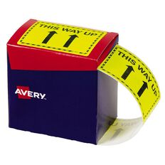 Avery This Way Up Labels Fluoro Yellow 750 Labels