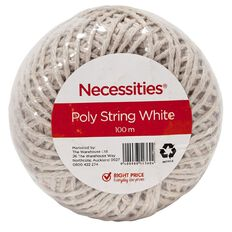 Necessities Brand Poly String White 100m