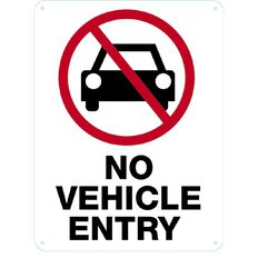 WS No Vehicle Entry Sign Large 600mm x 450mm