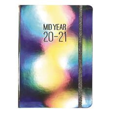 Modena Diary Mid Year 2020/21 Day To Page Metallic Silver A5