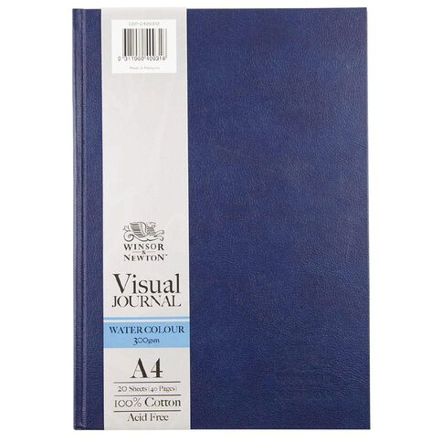 Winsor & Newton Watercolour Visual Journal Hard 300gsm A4 20 Sheets Blue