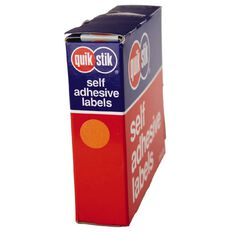 Quik Stik Labels Dots Mc14 1050 Pack Orange
