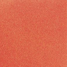 American Crafts Cardstock Glitter Medium 12 x 12 Neon Orange