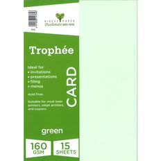 Trophee Card 160gsm 15 Pack Green A4