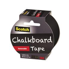 Scotch Craft Tape 48mm x 4.5m Chalkboard Black