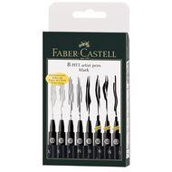 Faber-Castell 8 Pitt Artist Pens Nibs Assorted