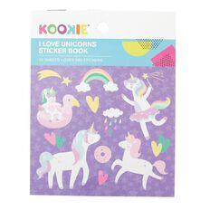 Kookie Mini Sticker Book 12 Sheets I Love unicorns