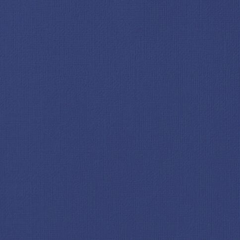 American Crafts Cardstock Textured Sapphire Blue 12in x 12in