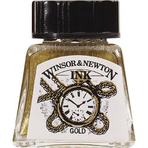 Winsor & Newton Drawing Ink 14ml Gold