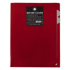 Office Supply Co Report Cover 3 Tabbed Pockets Red A4