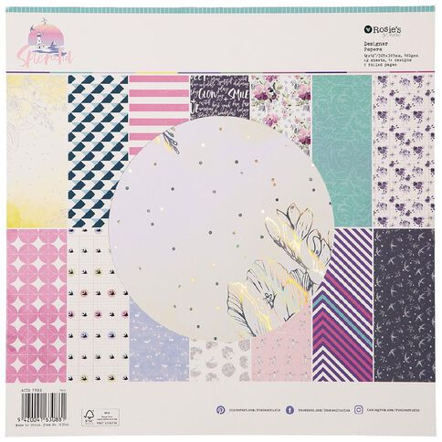 Rosie's Studio Splendid Designer Papers 42 Sheet Pad 12in x 12in