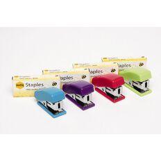 Marbig Stapler Mini 26/6 + 1000 Staples Summer Assorted