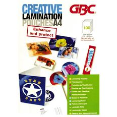Creative Laminating Pouch A4 125 Micron 100 Pack Clear