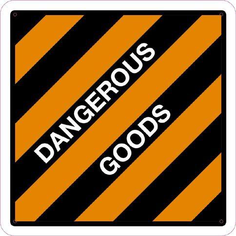 WS Dangerous Goods Sign Large 600mm x 600mm
