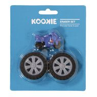 Kookie Novelty19 Bike and Tyres Eraser 3 Pack
