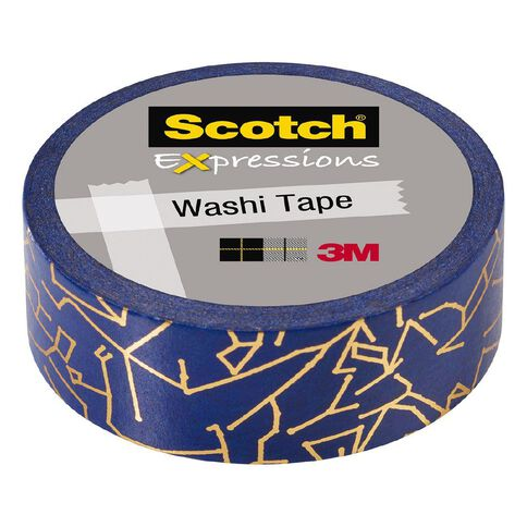 Scotch Washi Tape 15mm x 7m Foil Gold Constellations