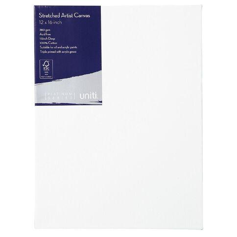 Uniti Platinum Canvas 12x16 Inches 380Gsm