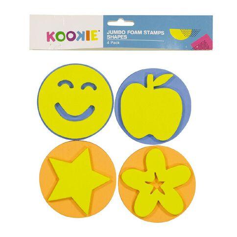 Kookie Jumbo Foam Stamps 4pk Shapes