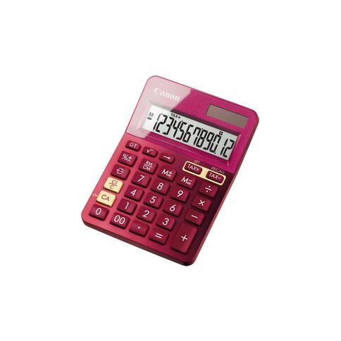 Canon LS-123K Desktop Calculator Pink