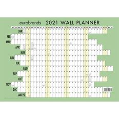 Eurobrands 2021 Wall Planner Laminated (297x420mm) A3