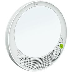 iLuv Water Resistant Wireless Speaker with Mirror White