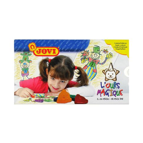 Jovi Wax Crayon Magic Bear Multi-Coloured