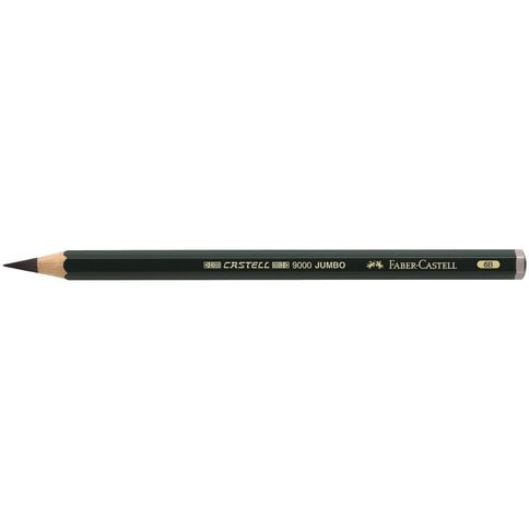 Faber-Castell Drawing Pencil 9000 Jumbo 6B Black