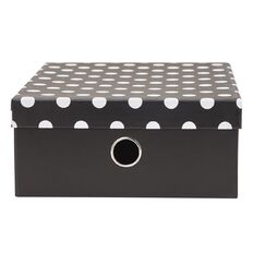 Uniti Black&Gold Storage Box Black/White with Dots