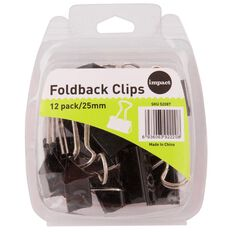 Impact Foldback Clips 25mm 12 Pack