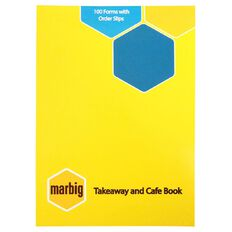 Marbig Takeaway Order Book 100 Leaf Yellow A6