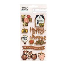 Saturday Afternoon Wood Stickers 11 Piece