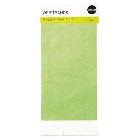 Impact Wristbands Green 10 Pieces