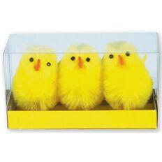 Artwrap Easter Chicks 5cm 3 Pack Yellow