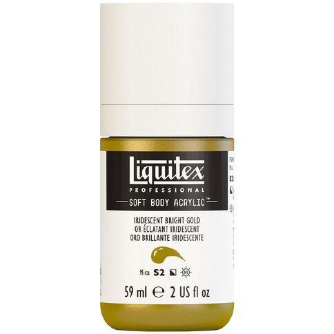 Liquitex Soft Body Acrylic 59ml Irid Bright Gold S2