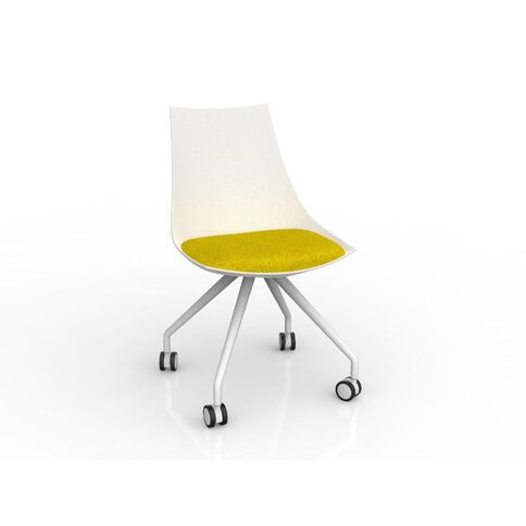 Luna White Bumblebee Chair Yellow