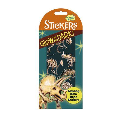 Peaceable Kingdom Stickers Glow In The Dark Dino Bones